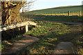 NU0316 : Crash barrier over Fawdon Burn by Derek Harper