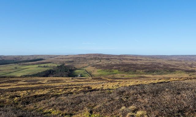 Moorland north of Heathery Burn