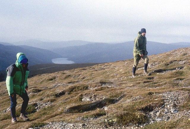 Ascending the west shoulder of Culardoch