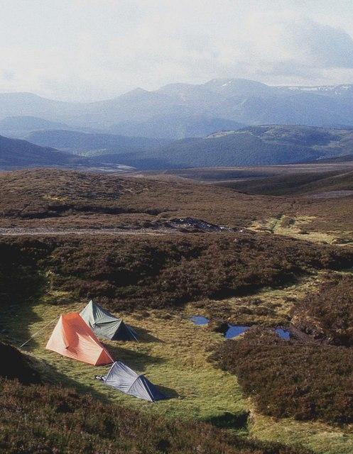 Camp at Bealach Dearg