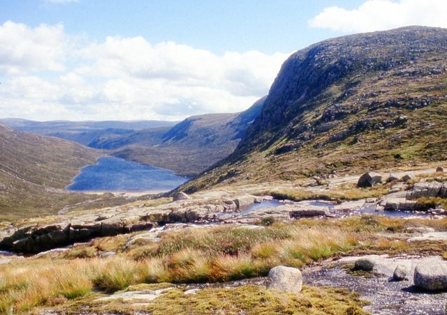 Bealach at the head of Allt an Dubh Loch