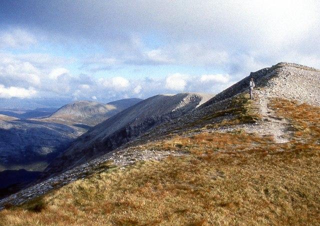 On Arkle's summit ridge