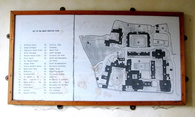 The Great Hospital - site plan