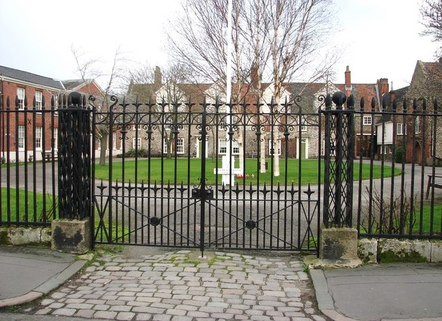 The Great Hospital - entrance from Bishopgate