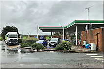 SD5052 : Southbound M6: Fuel Forecourt, Lancaster Services by David Dixon