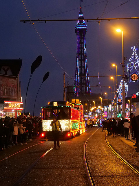 Illuminated Tram Parade, Blackpool