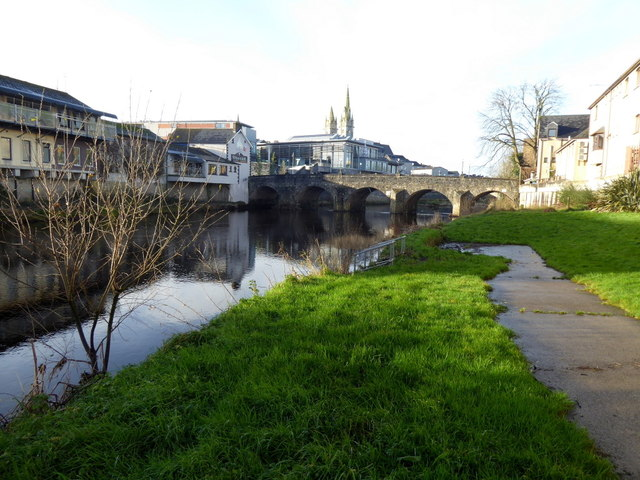 Riverbank along the Strule, Omagh