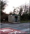 SN7906 : Stone bus shelter alongside the A4109, Crynant by Jaggery