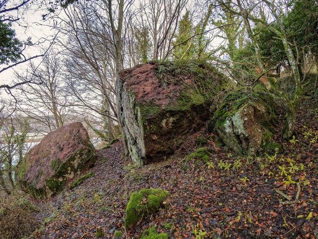 Erratic Boulders on the Hillside above Clachnaharry
