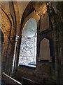 SZ0382 : Window at St Nicholas' Church, Studland by Phil Champion