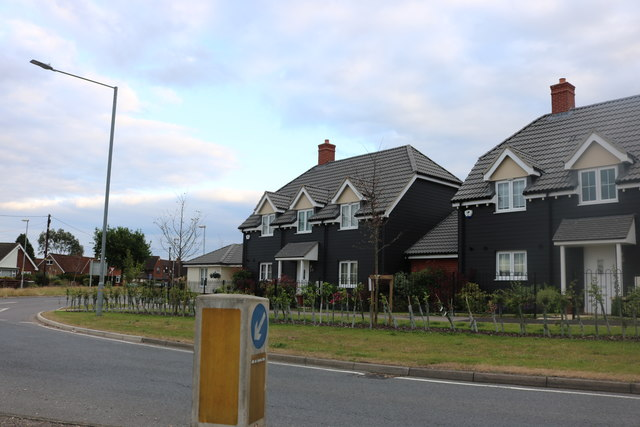 New houses on Ongar Road, Great Dunmow