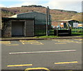 SN7905 : Stone bus shelter at the edge of Crynant Business Park by Jaggery