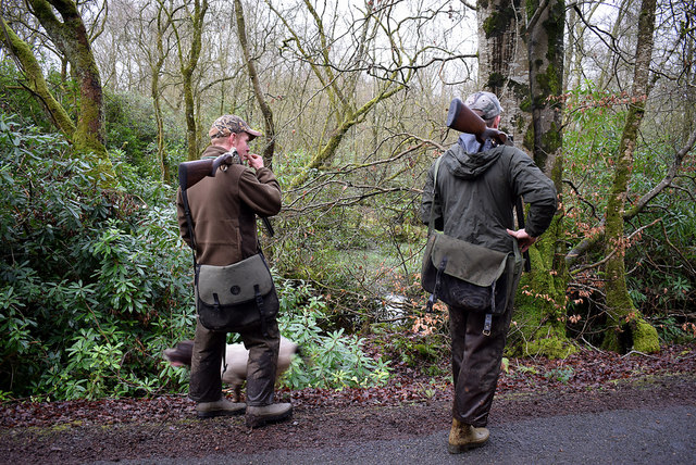 Wildfowlers along Drumconnelly Road