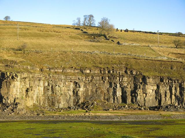 Harrowbank Quarry (disused) below Laverock Seat