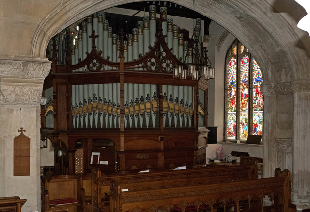 The organ in the St Mary Magdalene Church, South Molton