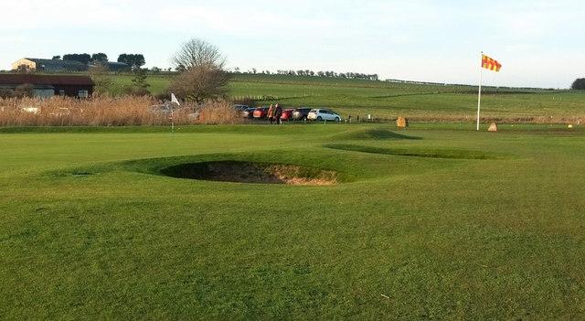 Dunstanburgh Castle Golf Course: the final green