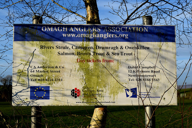 Omagh Anglers' Association notice board