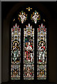 SS7125 : 1 of 19 stained glass windows in St Mary Magdalene Church, South Molton by Roger A Smith