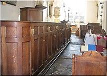TG2309 : St Helen Bishopgate - box pews by Evelyn Simak