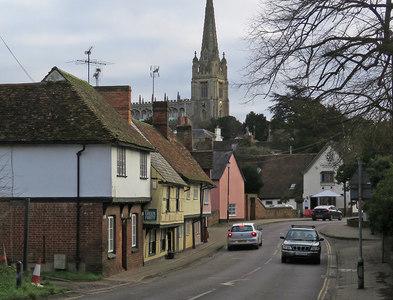 TL5338 : Saffron Walden: Bridge Street and the parish church by John Sutton