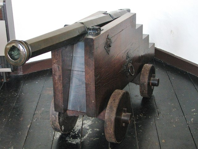 Cannon on display in the Great Hospital's Refectory