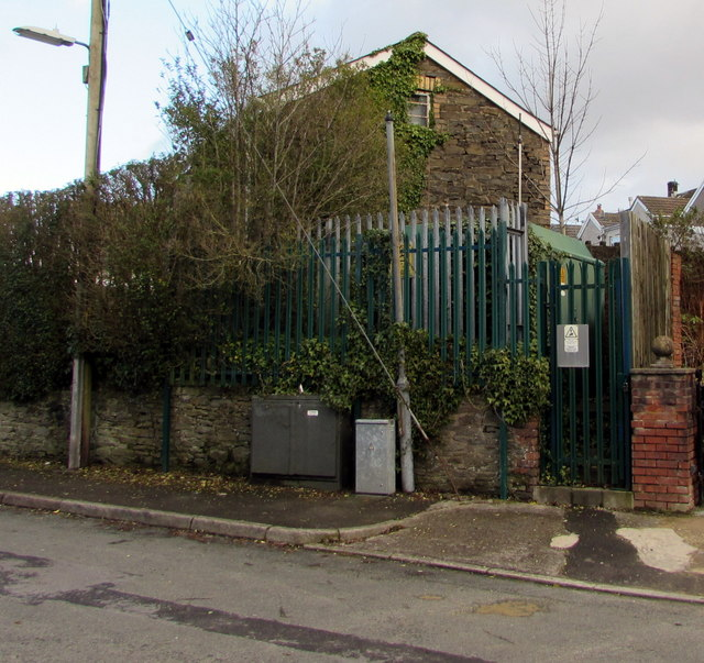 Electricity substation at the southern end of Woodland Road, Crynant