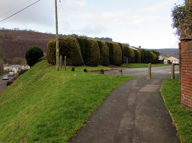 Path up to Woodland Road, Crynant