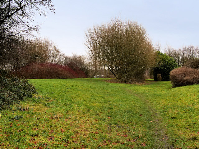 Landscaped former Railway Land behind Gorsefield School