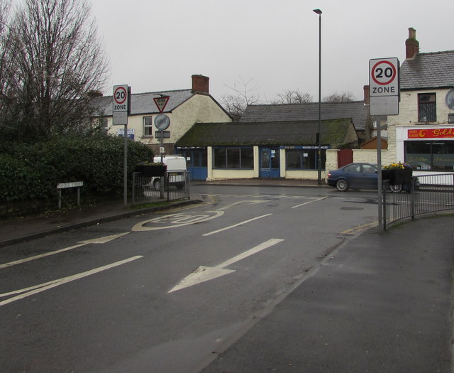 Junction of Oxford Street and High Street, Lydney