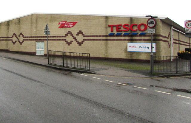 West side of Tesco, Lydney