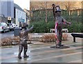 NT4936 : Coulter's Candy statues, Galashiels by Jim Barton