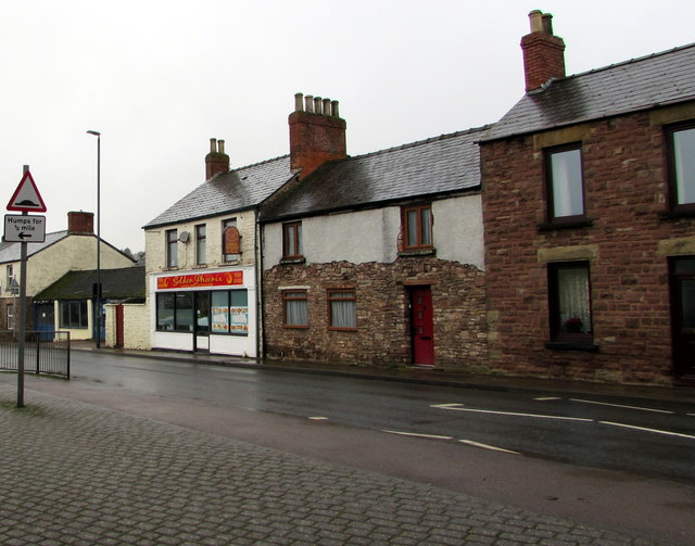 High Street houses and businesses, Lydney