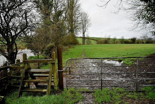 Muddy entrance to field, Edenderry