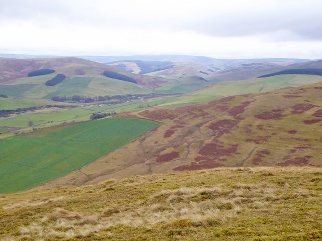 View south-east from Wideopen Hill
