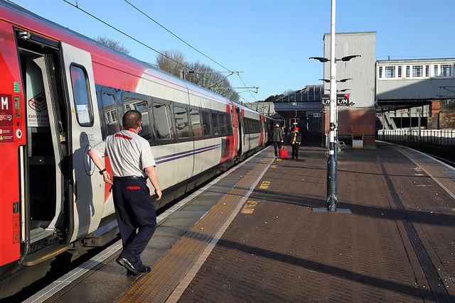 A train at Berwick Railway Station