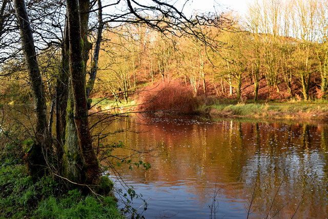 Colourful view along the Camowen River