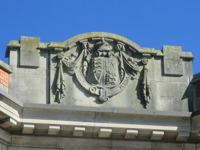 Coat of Arms on former main post office, Bangor