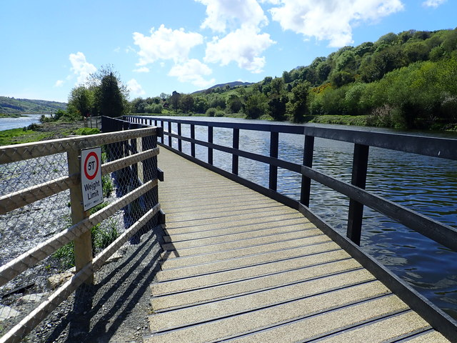 Bridge carrying the Newry Greenway over the canal overspill