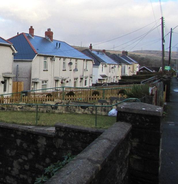 Houses below Dulais Road, Seven Sisters