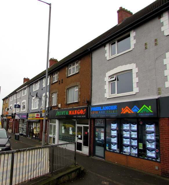 Colourful nameboards, Malpas Road, Newport