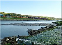 J0923 : Mud flats in the Newry River opposite the Greenbank Industrial Estate by Eric Jones