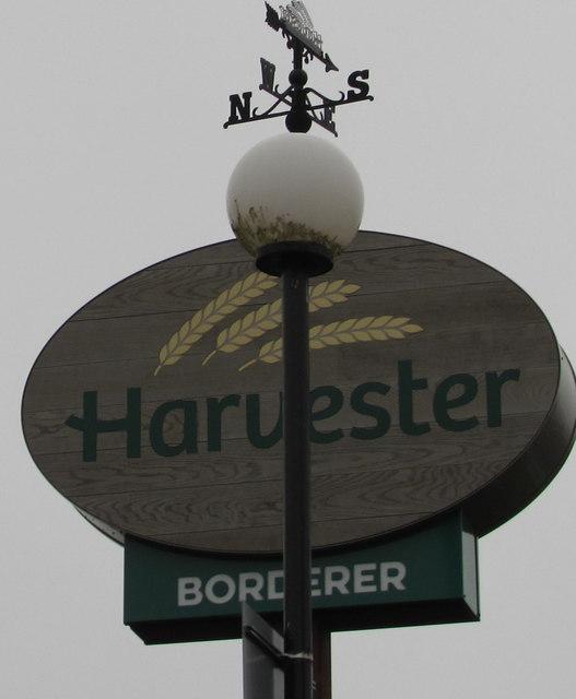 Harvester Borderer weathervane, Malpas, Newport