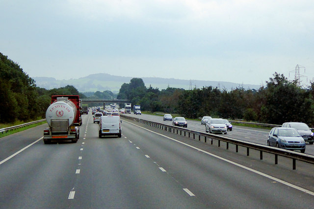 Southbound M6 between Burton-in-Kendal and Carnforth