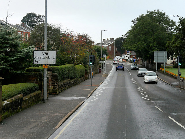 Prestwick, Pedestrian Traffic Lights on Monkton Road