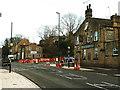 SE2236 : Zebra crossing under construction, Rodley Lane by Stephen Craven