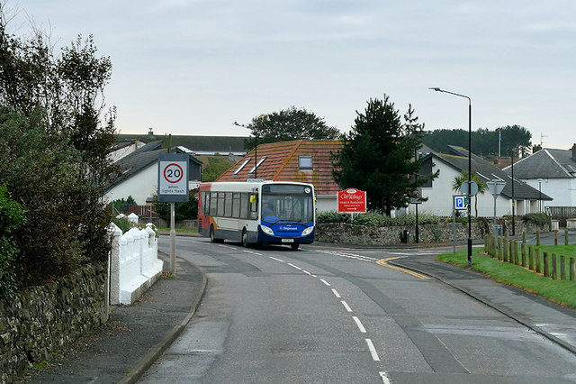 Stagecoach Bus passing through Maidens