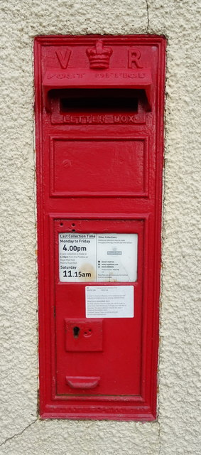 Victorian postbox on Staithes Road, West End