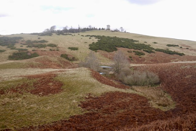 Col between Pawston Hill and Hare Law