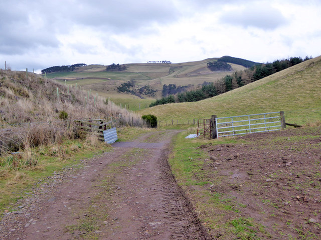 Cattle grid on track down to Grubbit and the B6401