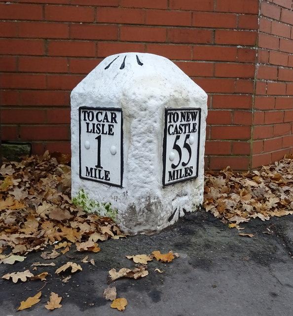 Milestone on Brampton Road